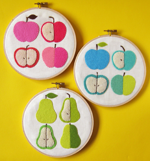 apples and pears wall hangings