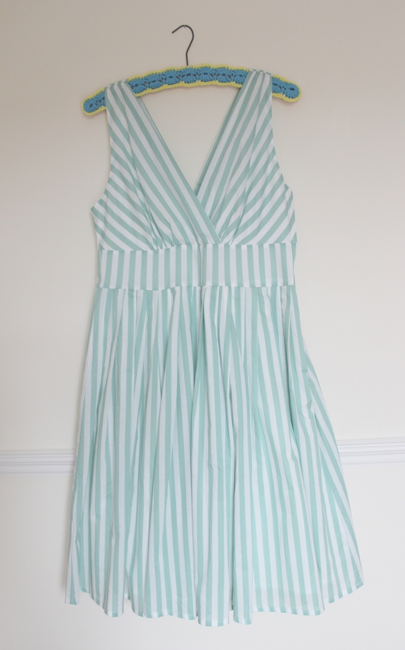 mint striped dress