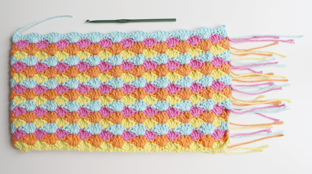 Crocheting Two Ends Together : Weave in the ends and slip stitch the sides together. I slip ...