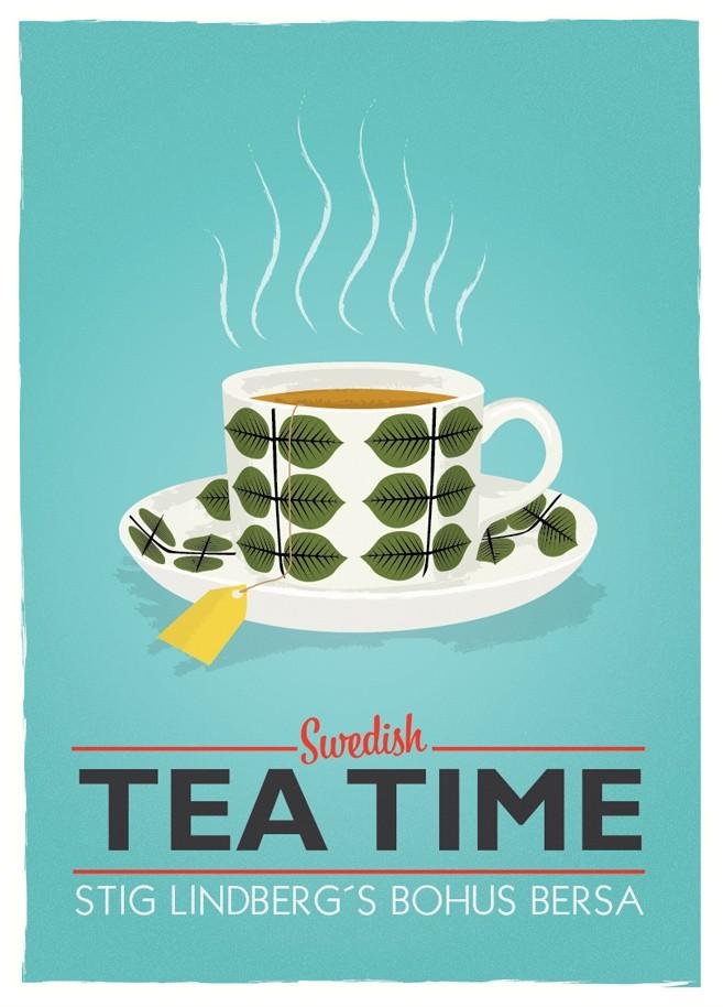 swedish tea time poster