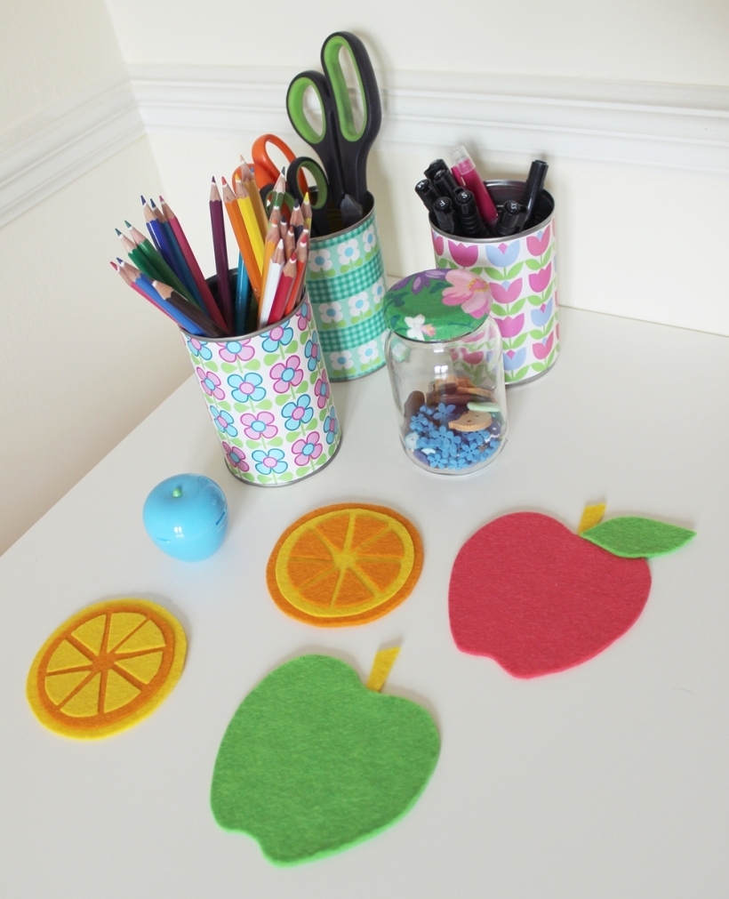 apple and citrus coasters