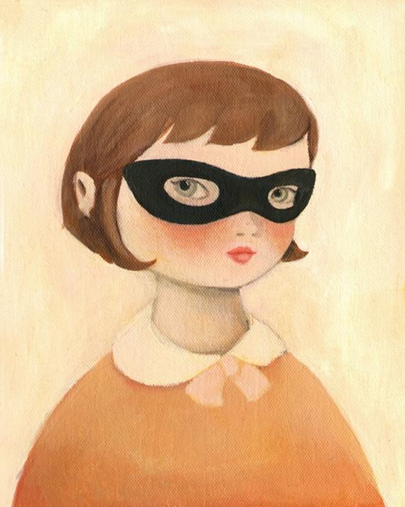 bandit girl print by emily martin