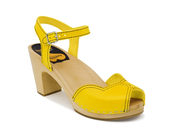 swedish hasbeens heart sandal