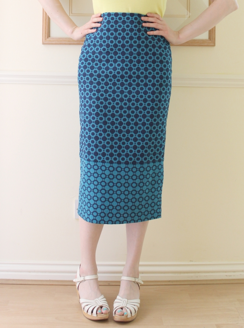 asos geometric pencil skirt