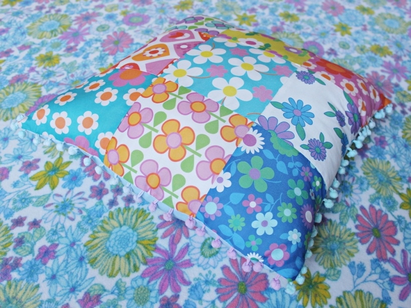 Chiaki Creates - Alice Apple fabric patchwork cushion