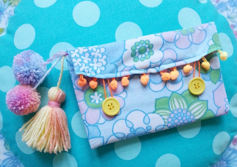 Chiaki Creates - Handmade Happy Pouch For Kat of The Craft Bureau