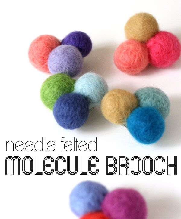 How To - Needle Felted Molecule Brooch by My Poppet