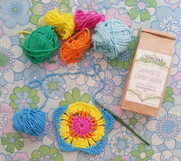 Chiaki Creates - Happy Crochet Coaster