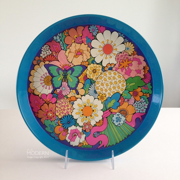 Ivan Ripley Psychedelic Daisy Floral English Tin Tray by alamodern on Etsy