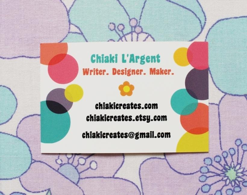 Chiaki Creates - New Business Cards 2 chiakicreates.com