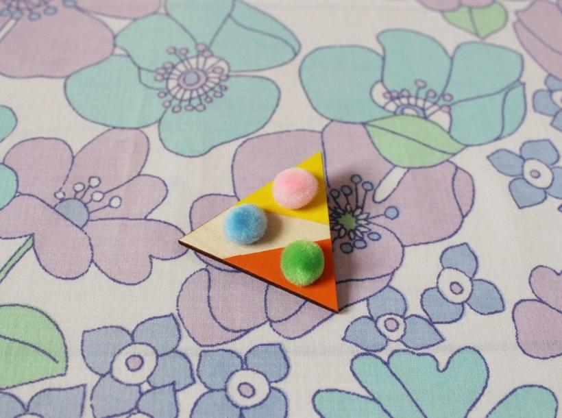 Triangular Pink Floyd Brooch by Chiaki Creates chiakicreates.etsy.com