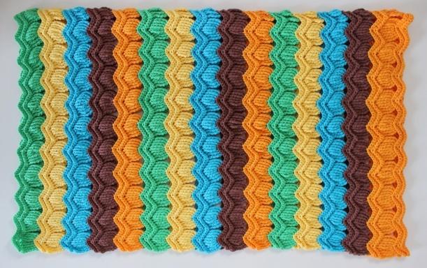 Vintage Fan Ripple Baby Blanket Sixties Seventies Retro by chiakicreates on Etsy 3